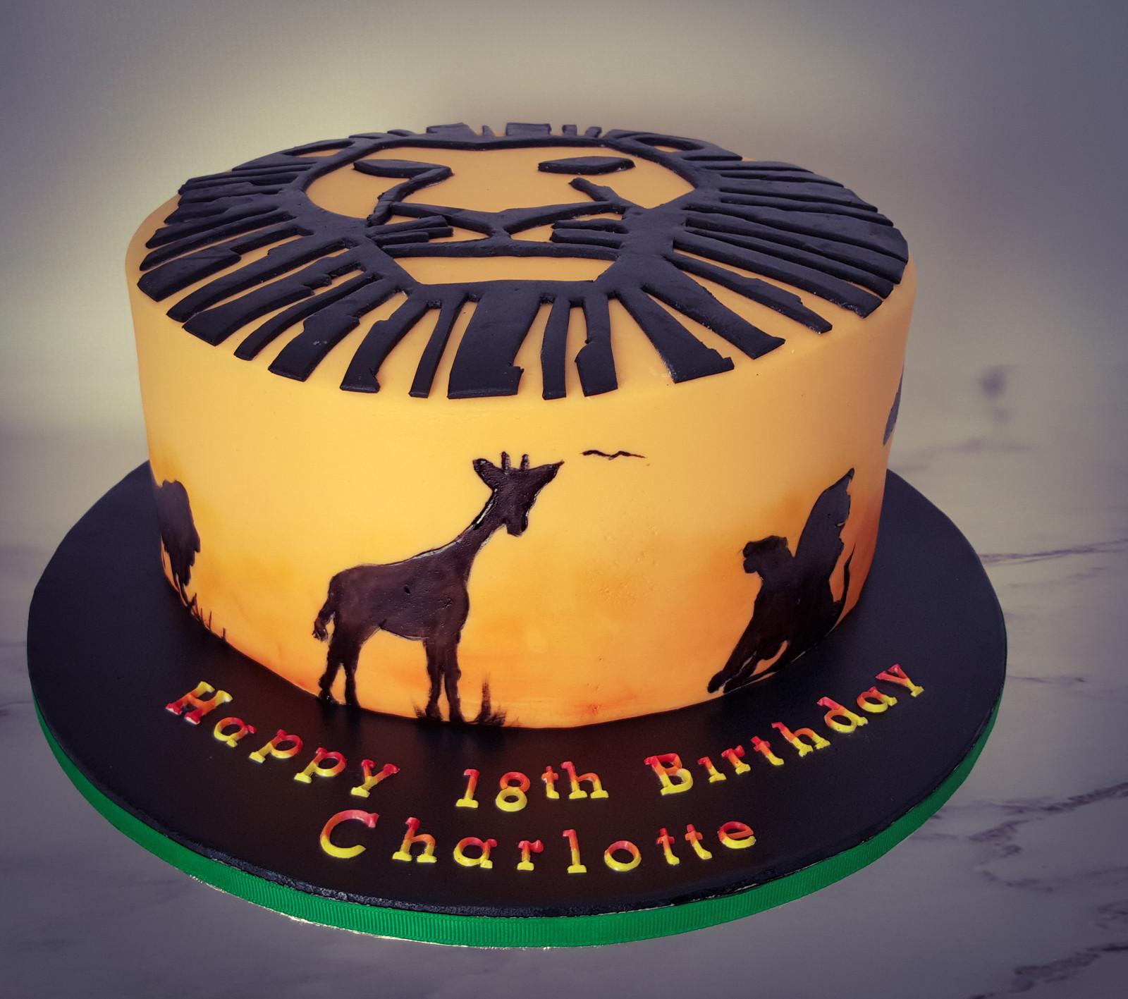 Lion King Themed Cake