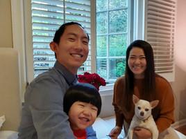 브라이언과 린나가족_축복이와 함께.