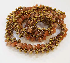 embellished right angle weave bracelet 1