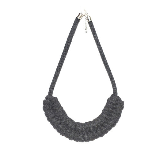Charcoal Grey Fishtail Necklace