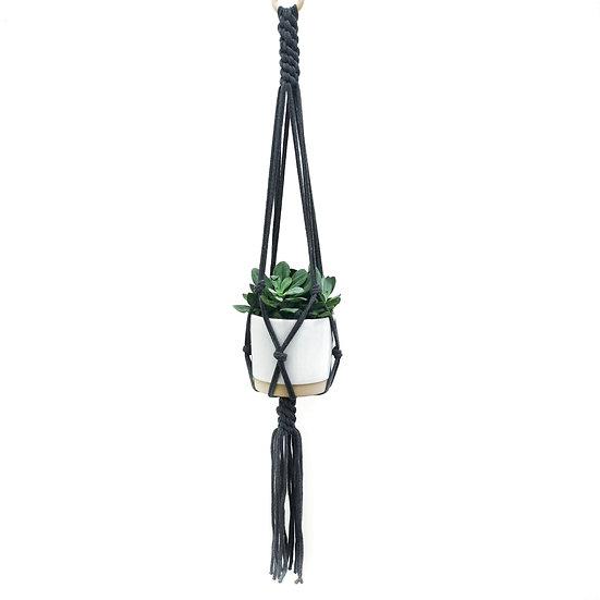 Macrame Plant Hanger [ Charcoal Grey ]