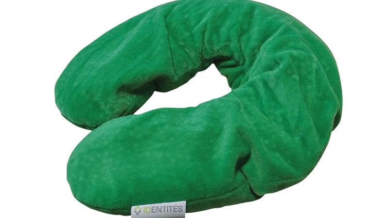 Coussin chauffant noyaux de cerises vert