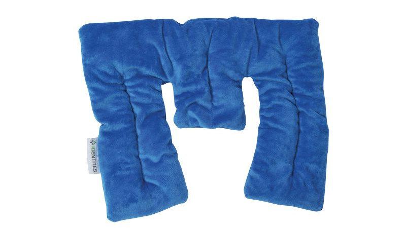 Coussin chauffant bille de céramique bleu tri section