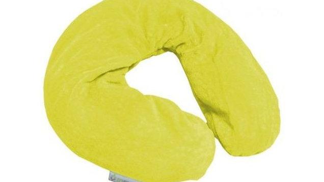 Coussin chauffant graine de lin jaune