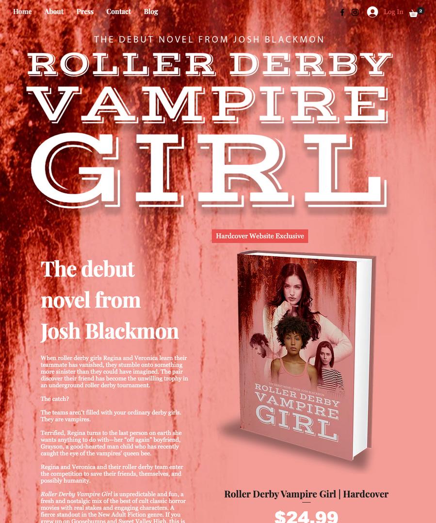 Roller Derby Vampire Girl