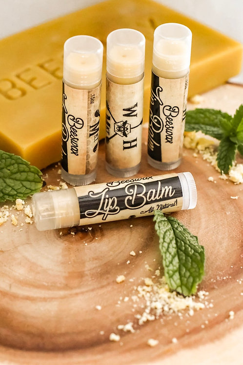 Peppermint Beeswax Lip Balm, Natural