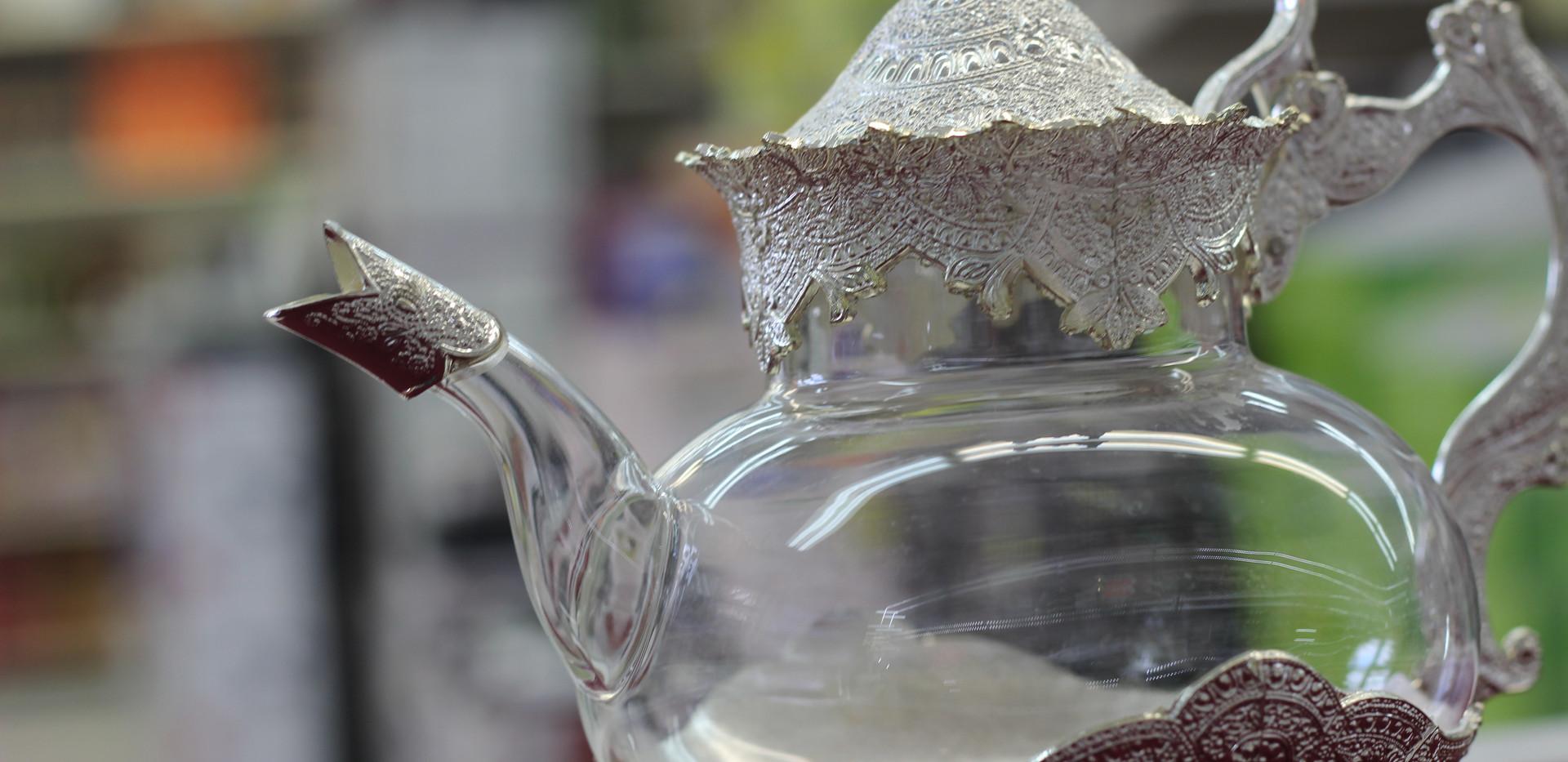 Théière deluxe en verre