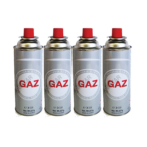 Lot de 4 cartouches de gaz 227g