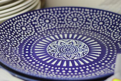 Assiettes bleu style oriental