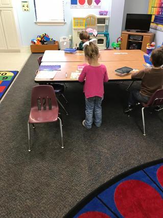K3 enjoys learning their letters