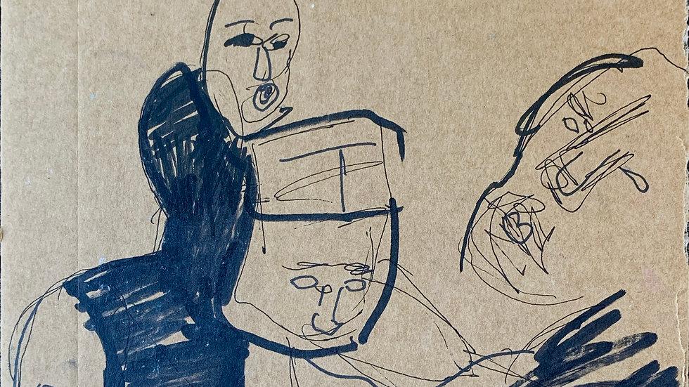 Cardboard Sketch #4
