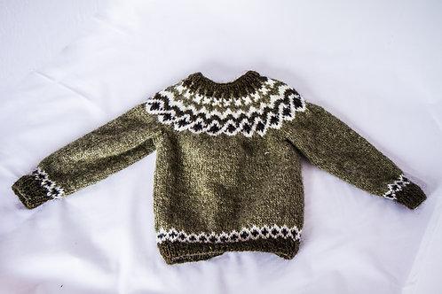 Kambur / pattern for kids 1-4 years (greens)