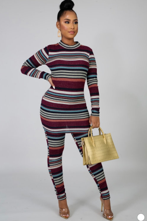 2 Piece Stripe Set
