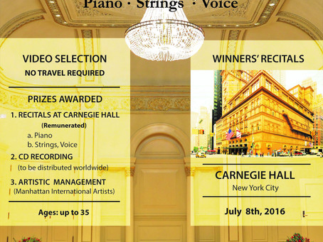 USA: Manhattan International Music Competition.