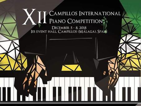 Spain: XII Campillos International Piano Competition. Malaga. December 5-8, 2018.