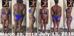 4 Months of proper diet and exercise