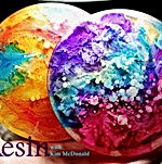 Kim McDonald - Resin Petri Coasters - 1.