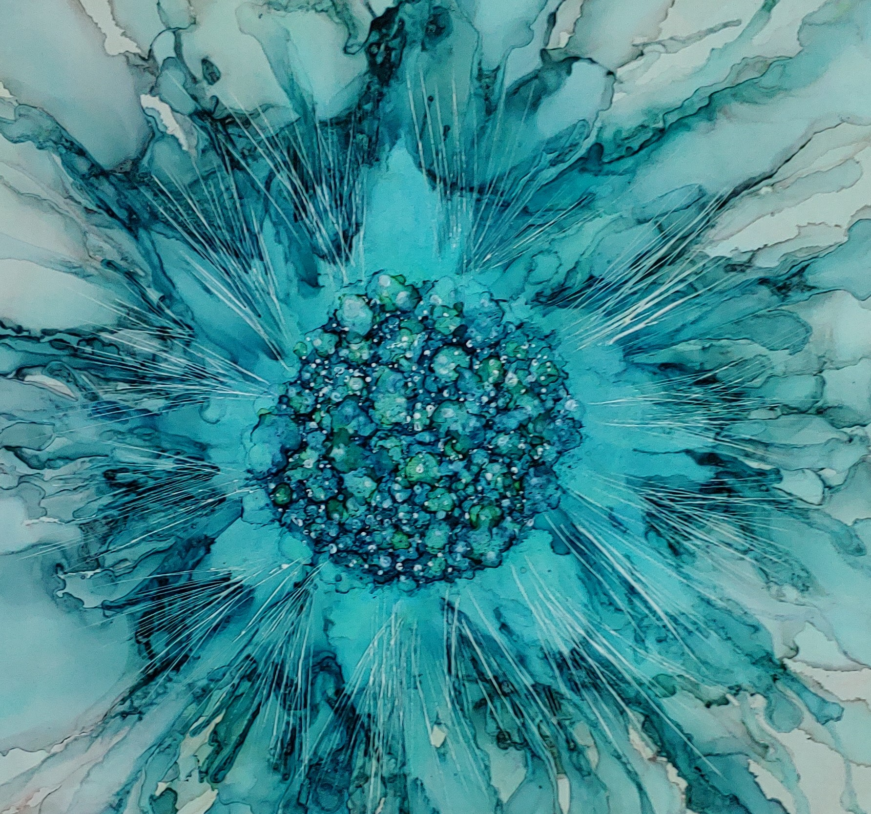 Alcohol Ink  Floral 1