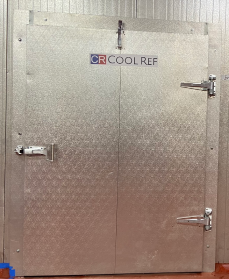 COOLREF Swing Door is fabricated by the white-coated aluminum
