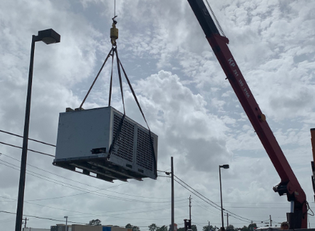 The Delivery of COMBI Refrigeration Rack in Baytown, TX
