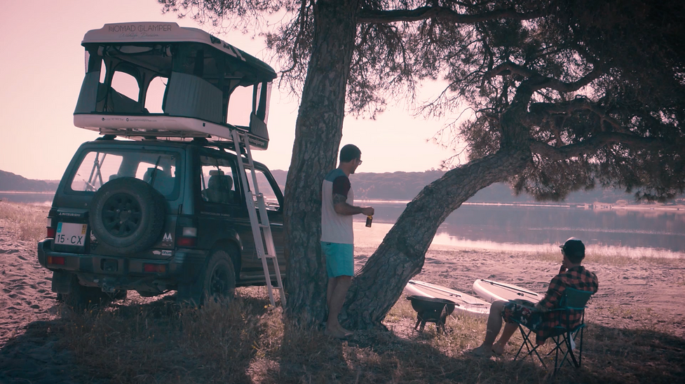 Nomad Glamper tenda de tejadilho Barragem