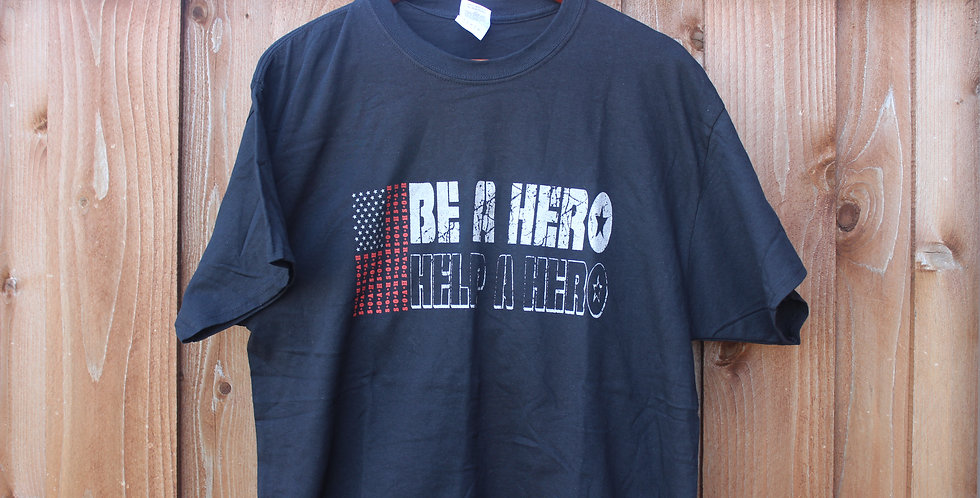 BE A HERO HELP A HERO SHIRT