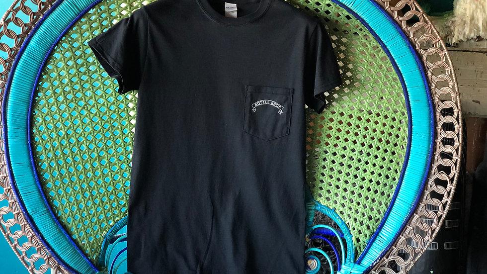 Black Front Pocket T-Shirt