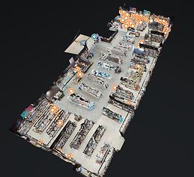 Vue 3D visite virtuelle espace culturel