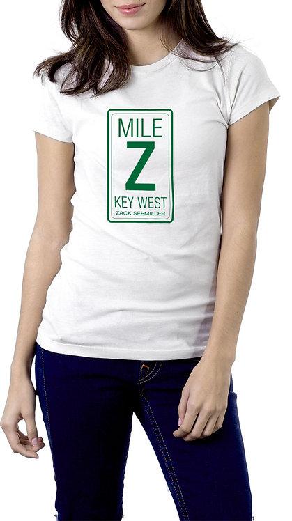 """Mile Z"" Ladies T-Shirt - White"