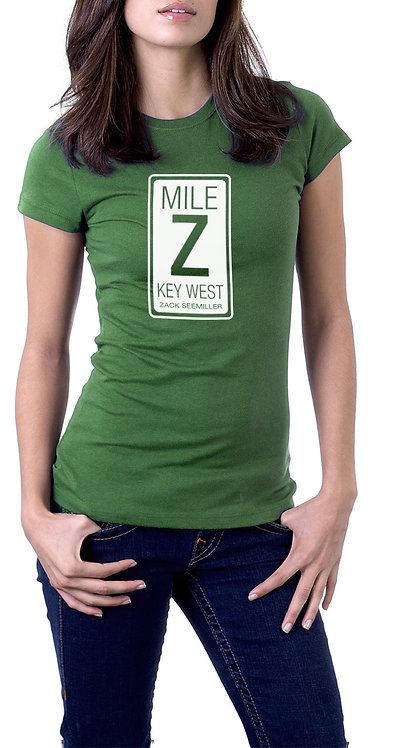 """Mile Z"" Ladies T-Shirt - Green"