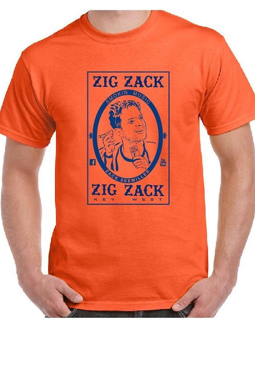 """Zig Zack"" T-Shirt - Orange"
