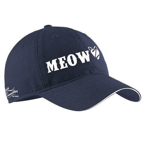 """Meow"" Baseball Cap - Navy"