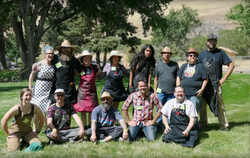Group photo of the Exquisite Gorge artists
