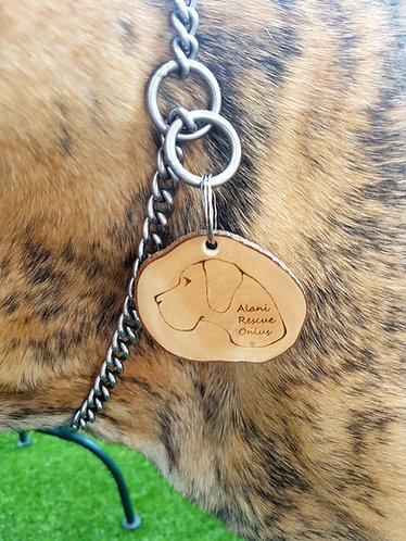 medaglietta in legno Alani Rescue