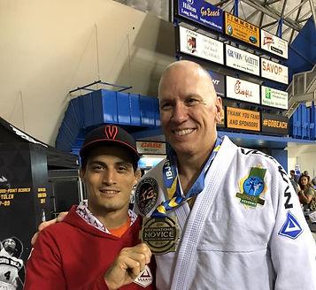 Ninja with a student at IBJJF Worlds 2016