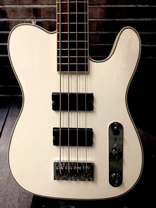 Birdsong Designed T Bass - Short Scale - Snow White