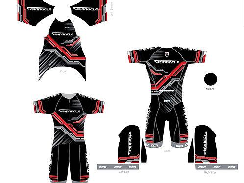Pinnacle Red/silver/black training suit