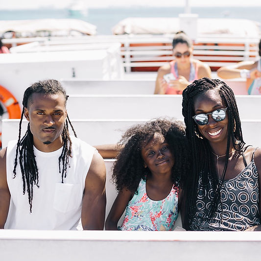 Black family on vacation in Mexico