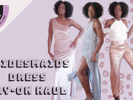 Bridesmaids Dress Try-on at Home Haul