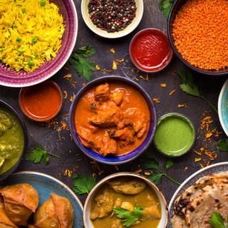 Indian Food Flatlay