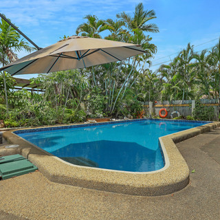 House, large pool and large powered shed close to the beach. Interested?