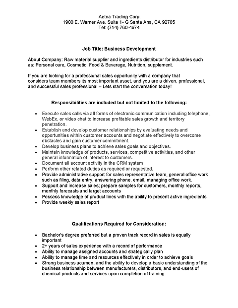 Aetna Career Opportunity Sales Position.