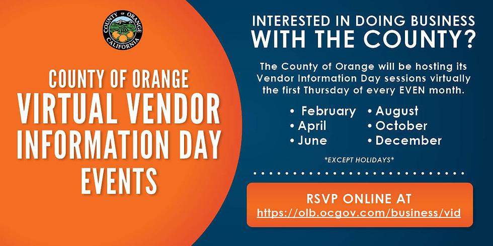 County of Orange Virtual Vendor Information Day Events