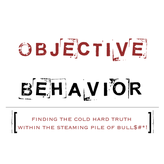 Objective behavior podcast logo (red) co