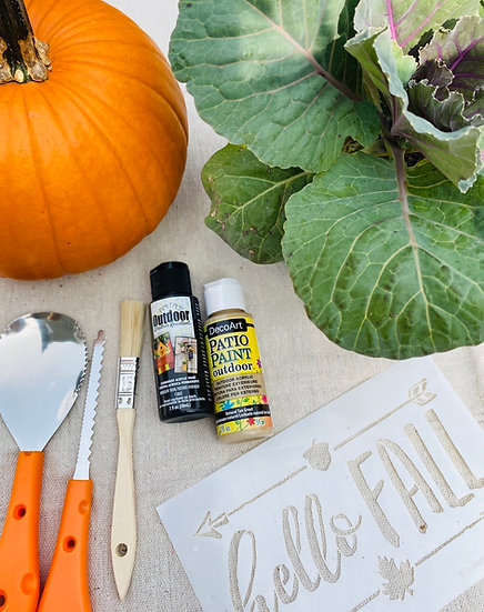 Hello Fall Pumpkin Planter Kit