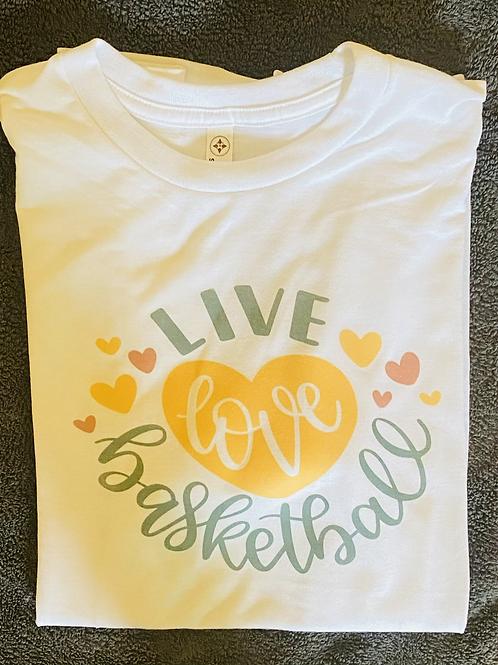 Live love basketball shirt