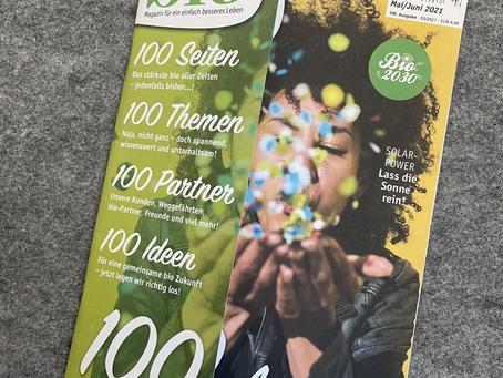 Wir gratulieren: 100 Ausgaben bioMagazin!