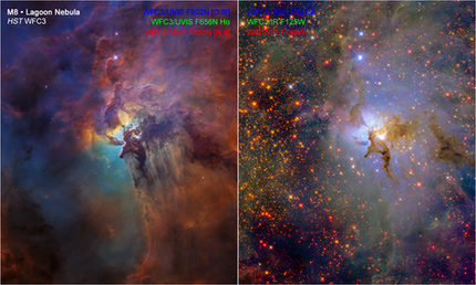 Lagoon Nebula for Hubble's 28th anniversary