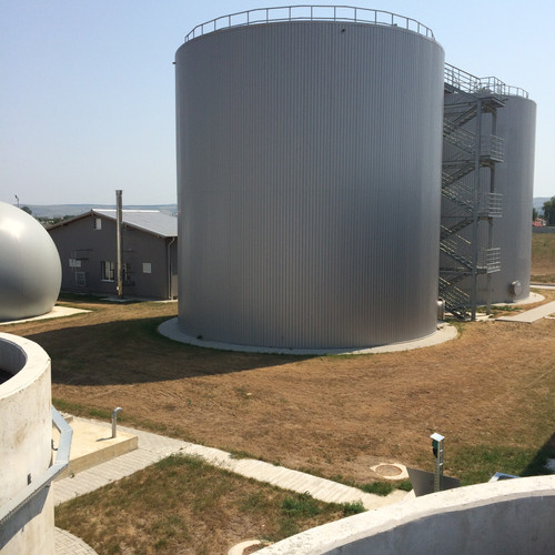 Digesters, gasholder and cogeneration bu
