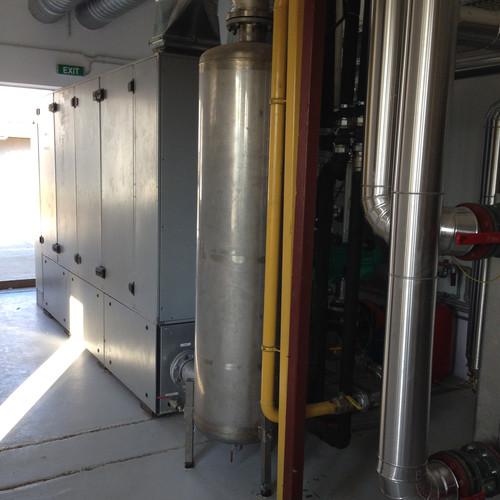 Cogeneration unit supplied with biogas.J